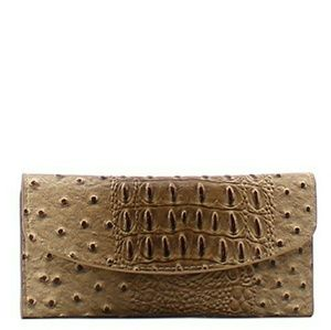 Handbags - BROWN FASHION LEATHER OSTRICH WALLET!